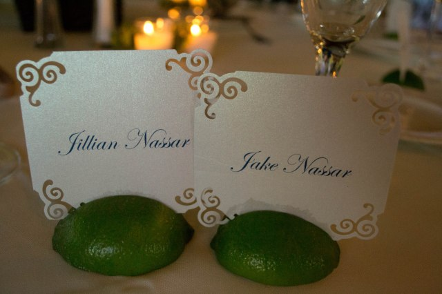 Our cute place cards for the tables, I thought this was so unique, definitely something I had never seen used!